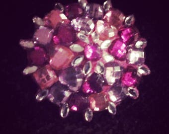Burlesque pasties - tassels - pink rhinestones