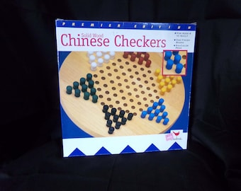 Chinese Checker Game, Old Childrens Board Games.  Wooden Chinese Checkers. Board Games. Classic Games. Retro Games.
