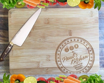 Name Stamp (Male Version) - Personalised Engraved Bamboo Chopping Board