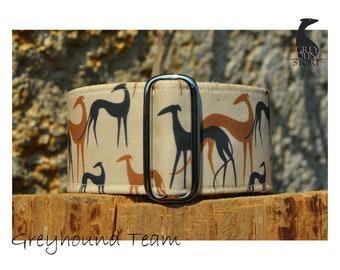 Greyhound Team (Martingale Dog Collar - Greyhound collar   Galgo collar)