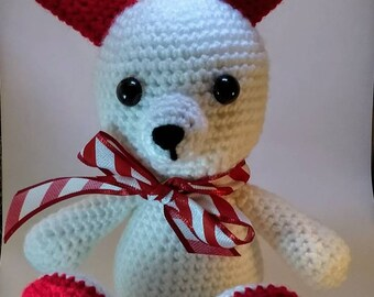 Valentine Rabbit (Amigurumi/Crochet) stuffed animal toy