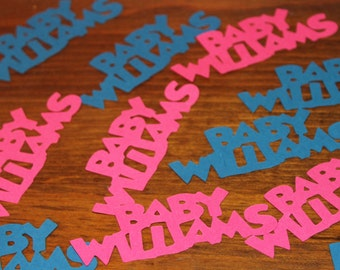 Customizable Gender Reveal/Baby Shower Name Confetti-Set of 50