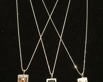 "30"" Long Sterling Silver Necklace with Swarovski Crystal Pendant"
