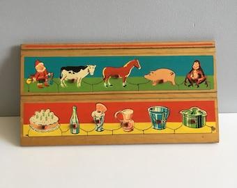 Vintage wooden Peg Puzzle.