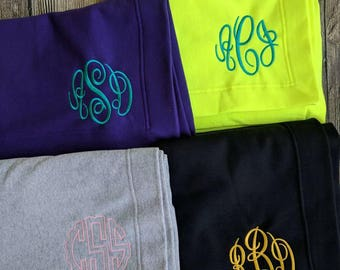 Monogram stadium blankets, customized stadium blanket, embroidered stadium blanket, personalized lap blanket, Stadium throw, monogrammed