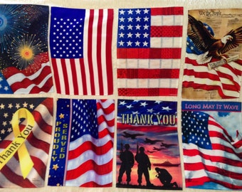PHOTO GARDEN FLAGS - Personalized - Patriotic-Inspirational-Fun Flag 12in-18in with 8in-10.5in Fabric Photo Collage - up to 7 photos & text