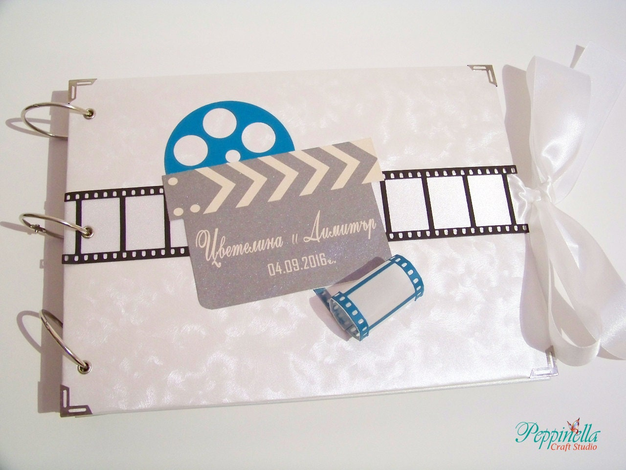 Personalized Wedding Guest Book, Handmade Scrapbook Photo Album ...