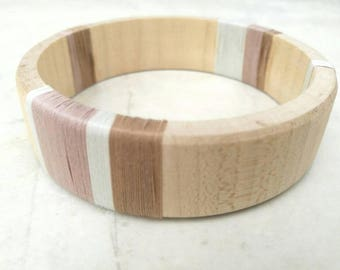 Giftboxed bangle - vintage reclaimed - sustainable jewellery - eco friendly gift - handmade bangle - wooden gift  - wood anniversary - pine