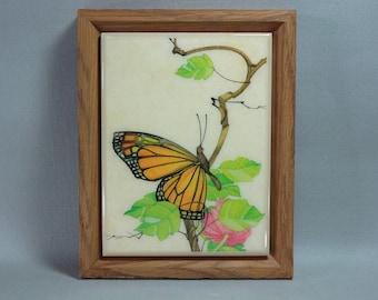 Kimberly Enterprises Monarch Butterfly Framed Ceramic Tile