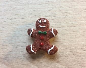 Gingerbread Man Needle Minder, Embroidery, needlework, cross stitch