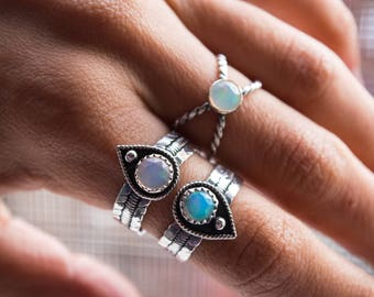 The Buried Treasure Ethiopian Opal Ring in Sterling Silver