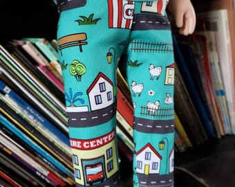 "Doll Leggings, 18"" Doll Clothes, City Doll Pants, Girl Doll Trousers"