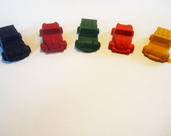3D car crayons, car party favors, car goody bags, stocking stuffer