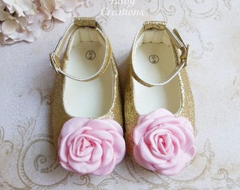 1st Birthday Girl Outfit, Pink and Gold First Birthday Outfit, Pink and Gold First Birthday, Pink and Gold Baby Shoes, 1st Birthday Shoes