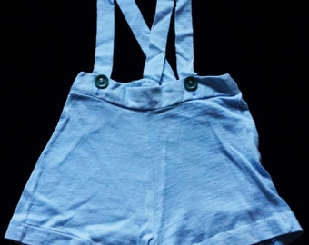 1960s Boys Knit Shorts Sz 4 Vintage Retro Kids