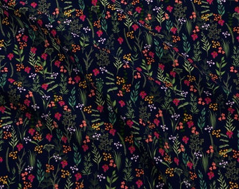 Night Botanicals Fabric - Margaux Iveta Abolina By Onesweetorange - Floral Flower Garden Botanics Cotton Fabric By The Yard With Spoonflower