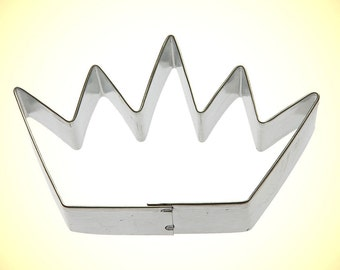 "Crown Cookie Cutter 3.5"", birthday crown cookie cutter, first birthday cookie cutter, birthday crown for boys, party favor made in USA wt23"