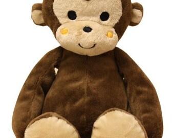 Personalized Keepsake Animal/ Plush Monkey/ Birth Announcement/ Personalized Birthday/ Personalized Baby Shower/ Personalized Gift