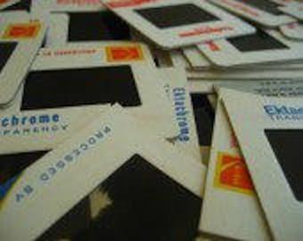 Vintage slides ,  35mm images-- 50 misc. scenes