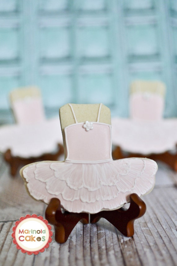 Ballet Tutu Dress Cookies- 1 Dozen Cookie Favor, Baby Shower, Birthday Cookies