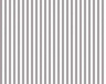 "Gray and White Stripe Fabric - Riley Blake Designs 1/4"" Stripe -  Grey and White Stripe - Narrow Stripe Fabric"