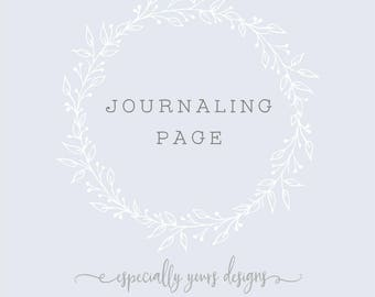 Journaling Page / Pages