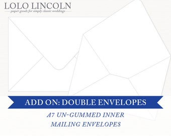 Add-On: Double Mailing Envelopes, A7 Un-gummed Inner Mailing Envelopes [For INVITATION Orders]