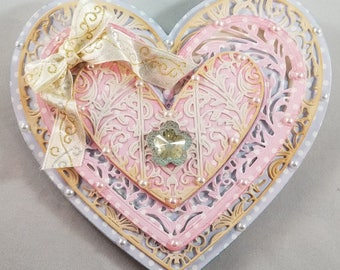 You're in my heart shaped card