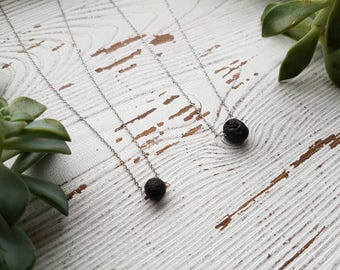 Lava bead necklace, diffuser necklace, essential oil necklace, lava stone necklace, Valentine's Day necklace, Valentine's day gift for her
