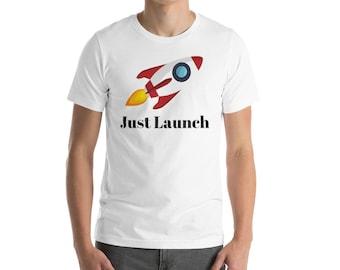 Just Launch - Short-Sleeve Men's T-Shirt