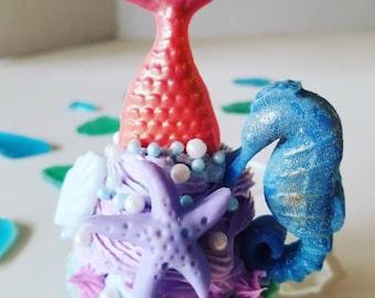 Mermaid cupcake soap