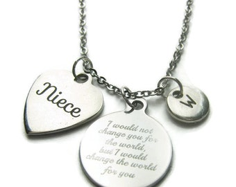 Personalized Niece Necklace, Niece Quote Necklace, Niece Necklace, Necklace For Niece, Niece Jewelry, Gift For Niece