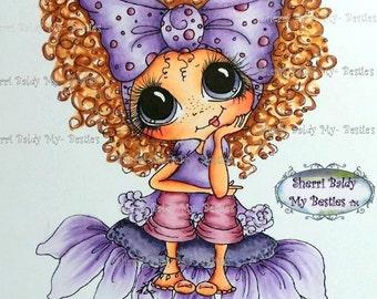 INSTANT DOWNLOAD Digital Digi Stamps Big Eye Big Head Dolls Digi  My Besties TM Img957  By Sherri Baldy
