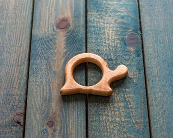 Wooden snail teether | Wooden teether | Wooden toy | Baby toy | ECO FRIENDLY TOY
