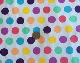 Rainbow Sherbet Dots Cotton Lycra Knit Fabric
