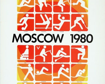 Poster - MOSCOW 1980 Games of the XXII Olympiad
