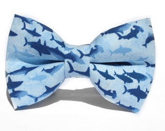 Shark Bow Tie | Bow Tie for Men | For Him | Bowtie | Dog Bow Tie | Mens Bow Tie | Boys Bow Tie | Wedding Bow Men