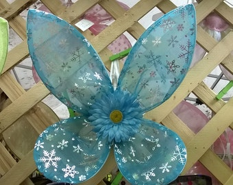 Winter Blue Fairy Wings