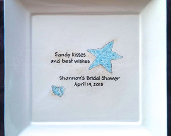 WEDDING GUEST BOOK - Shower Guest Book - Bridal Shower Signature Plate - Gifts for Bride - Starfish