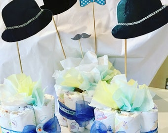 Diaper cake centerpiece little Mister