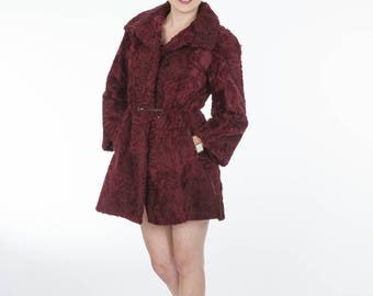 Astrakhan fur coat! Modern and stylish! Latest fur fashion trends at FurBrand!End of Season sales 50% discount!