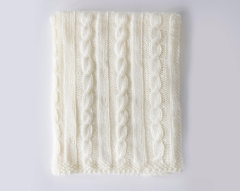 Knitting Pattern - Cable Knit Baby Blanket Pattern