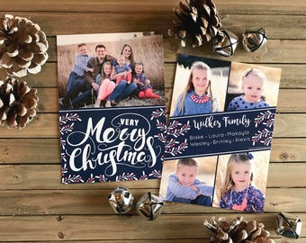 Christmas Card - Photo Christmas Card - Very Merry Christmas