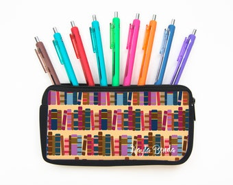Custom Personalizeable Row of Books Pencil Case - BR67
