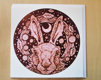 Hare Stare, Greetings Card