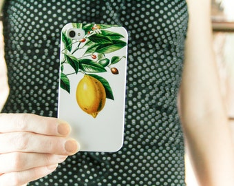 Lemon iPhone 7 Case, Botanical iPhone 6S, Lemons iPhone 6 Plus Case Summer iPhone SE Case