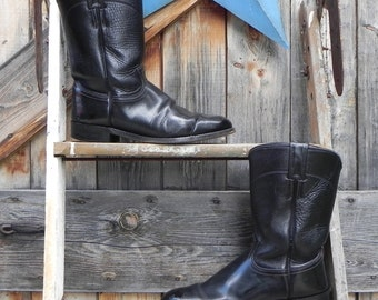 Justin boots, mens size 8, black