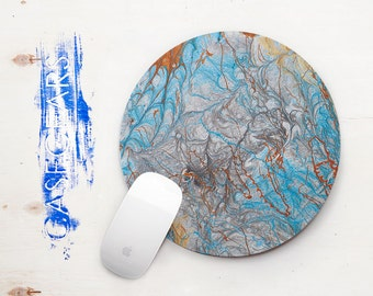 Mouse Pad Marble Mousemad Watercolor Mouse Pad Rectangular Mouse Pad Round Office Decor Office Desk Laptop Accessories MousePads CG5002