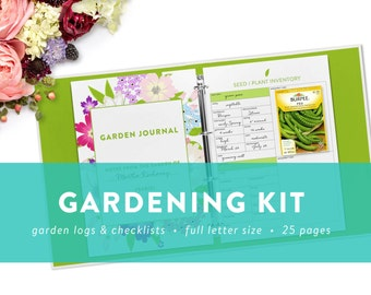 EDITABLE - Gardening Kit - Printable Garden Checklists, Logs, and Journal Pages -  INSTANT DOWNLOAD