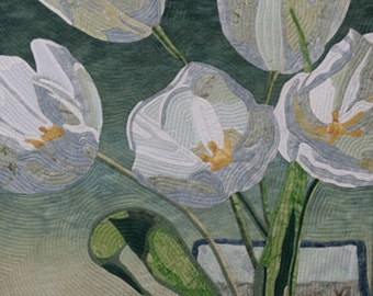 Flowers Through Glass